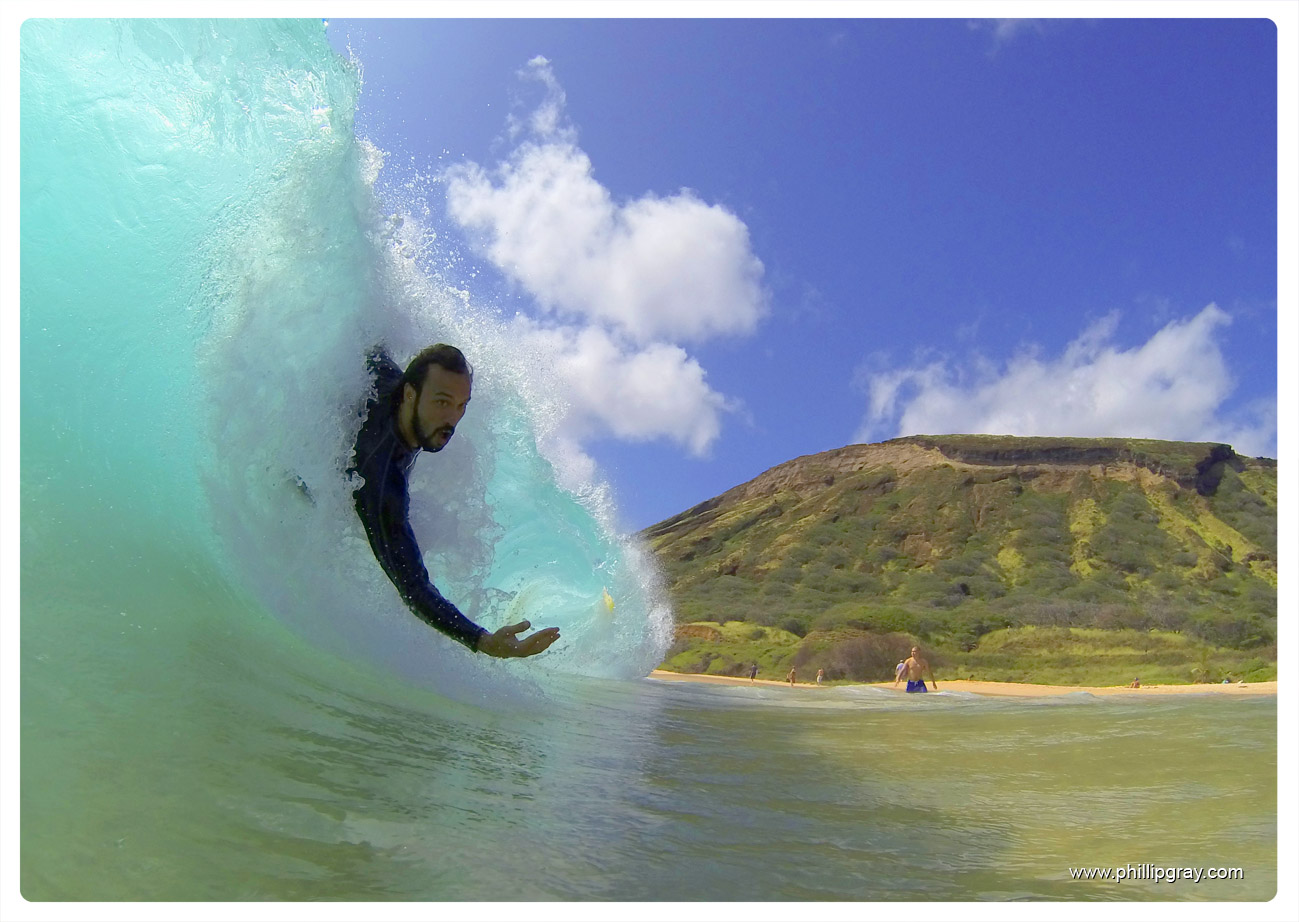 Body Surfing Sandy Beach Hawaii