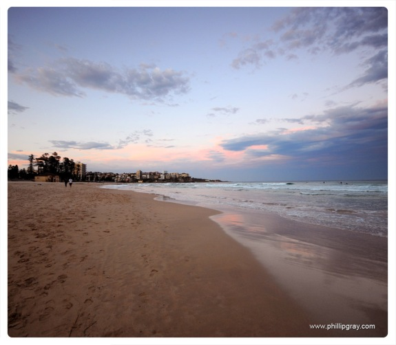 Sydney - Manly Beach Evening 1